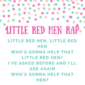 music storytime ideas little red hen rap