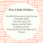 beach ocean storytime ideas five little fishies