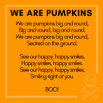Halloween storytime ideas we are pumpkins