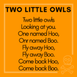 Halloween storytime ideas two little owls